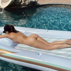 Caught this sexy girl in my pool Christina khalil